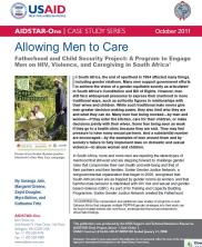 View details: Allowing Men to Care: Fatherhood Project in South Africa
