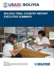 View details: Bolivia: Final Country Report Executive Summary, The DELIVER Project