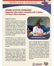 View details: Supporting Tribal Leaders to Respond to HIV in Zambia: The Story of Mbeza Chiefdom