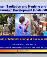 View details: Water, Sanitation and Hygiene and the MDGs