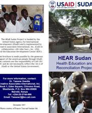 View details: Hear Sudan - Health Education and Reconciliation Project Brochure
