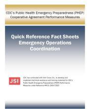 PHEP quick reference factsheet: emergency opertations coordination