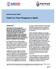 View details: Health Care Waste Management in Uganda Fact Sheet