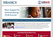 Thumbnail of the basics.org home page