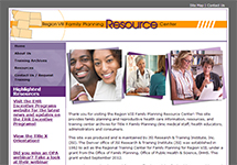Thumbnail of the region8familyplanning.org home page
