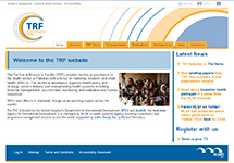 Thumbnail of the trfpakistan.org home page