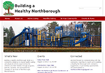 Thumbnail of the healthynorthborough.org home page
