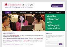 Thumbnail of the elearningpd.worlded.org home page