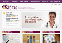 Thumbnail of the stdtac.org home page