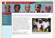 Thumbnail of the ghana.worlded.org home page