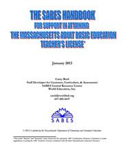 View details: The SABES Handbook for Support on Attaining the Massachusetts Adult Basic Education Teachers License
