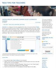 View details: Blog: Tech Tips for Teachers