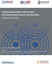 View details: Operationalising Structural Interventions for HIV Prevention: Lessons from Zambia