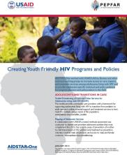 View details: AIDSTAR-One Project Highlight: Creating Youth Friendly HIV Programs and Policies