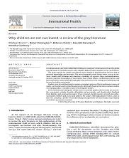 View details: Why children are not vaccinated: a review of the grey literature