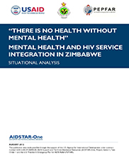"View details: Situational Analysis: ""There is no Health without Mental Health"": Mental Health and HIV Service Integration in Zimbabwe"