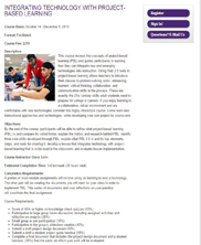 View details: Blended and Project-based Learning