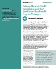 View details: Defining Electronic Health Technologies and their Benefits for Global Health Program Managers - Geospatial Analysis