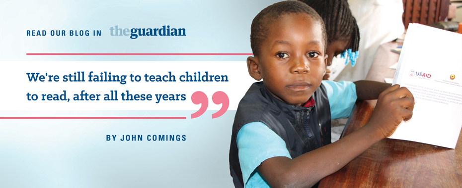Read the Blog on Early Grade Reading in The Guardian READ MORE »