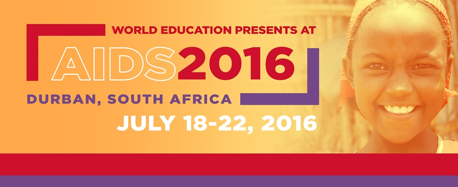Learn more about World Education's presence at AIDS2016 READ MORE»