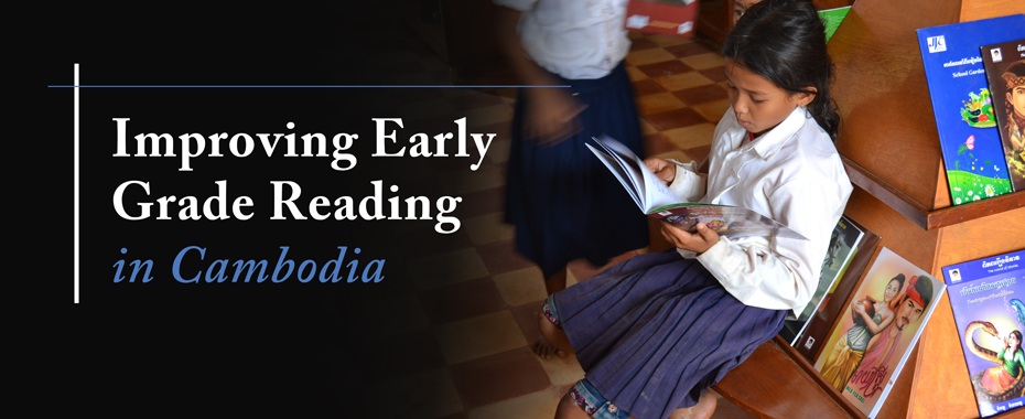 Improving Early Grade Reading in Cambodia READ MORE»