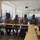 Ebola survivors from Sierra Leone visit JSI's DC office.