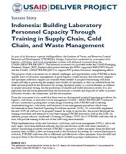 View details: Indonesia: Building Laboratory Personnel Capacity Through Training in Supply Chain, Cold Chain, and Waste Management