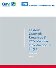 View details: Lessons Learned: Rotavirus & PCV Vaccine Introduction in Niger