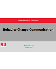 View details: Behavior Change Communication: Technical Capacity Assessment- Participant's copy