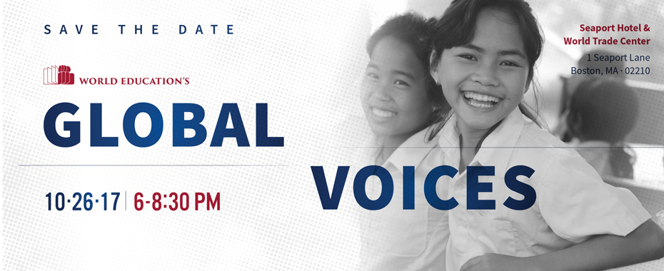 Learn more about World Education's Global Voices eventREAD MORE»