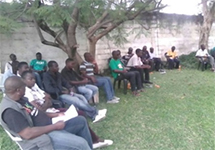 DREAMS men's group in Zambia