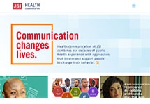 Thumbnail of the healthcommunication.jsi.com home page