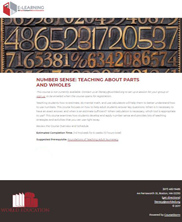 View details: Number Sense: Teaching About Parts and Wholes