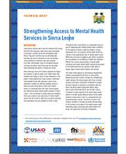 View details: Strengthening Access to Mental Health Services in Sierra Leone