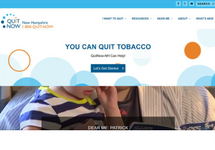 Thumbnail of the quitnownh.org home page