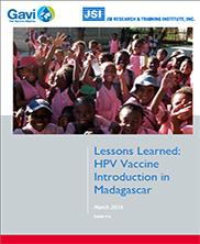 View details: Lessons Learned: HPV Vaccine Introduction in Madagascar