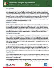 View details: MAHEFA's Behavior Change Empowerment: A new model for community centered change