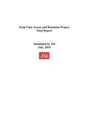 Peak Vista Access and Retention Project Final Report