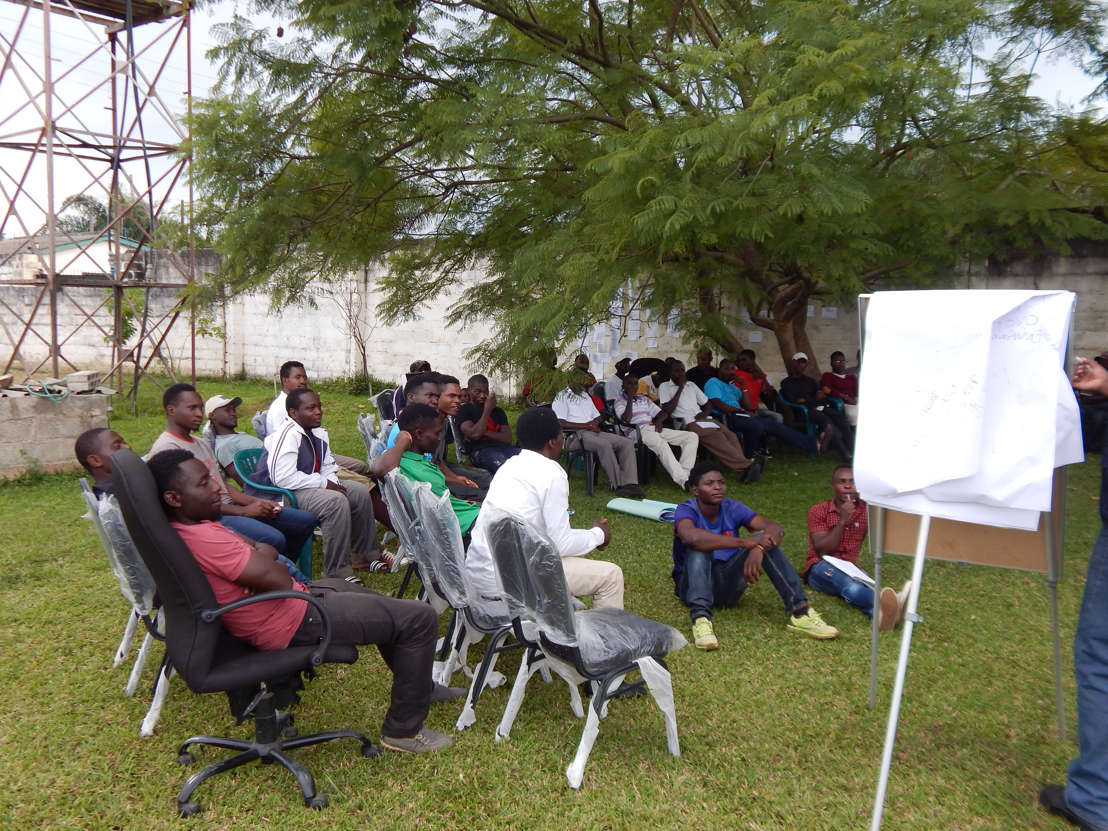 Men in Lusaka meet to discuss male involvement in sexual and reproductive health and HIV prevention
